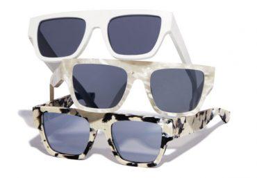 Gli occhiali alla moda sono in plastica riciclata