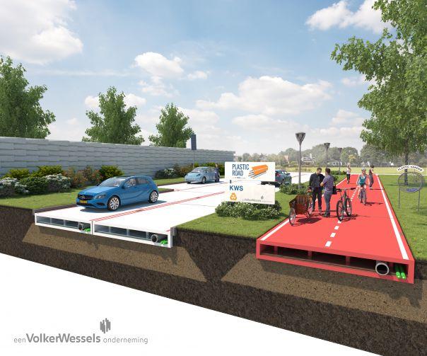 In Olanda si viaggia su strade in plastica riciclata